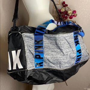 🆕 RARE VS PINK Blue Ombré Gym Duffel Bag